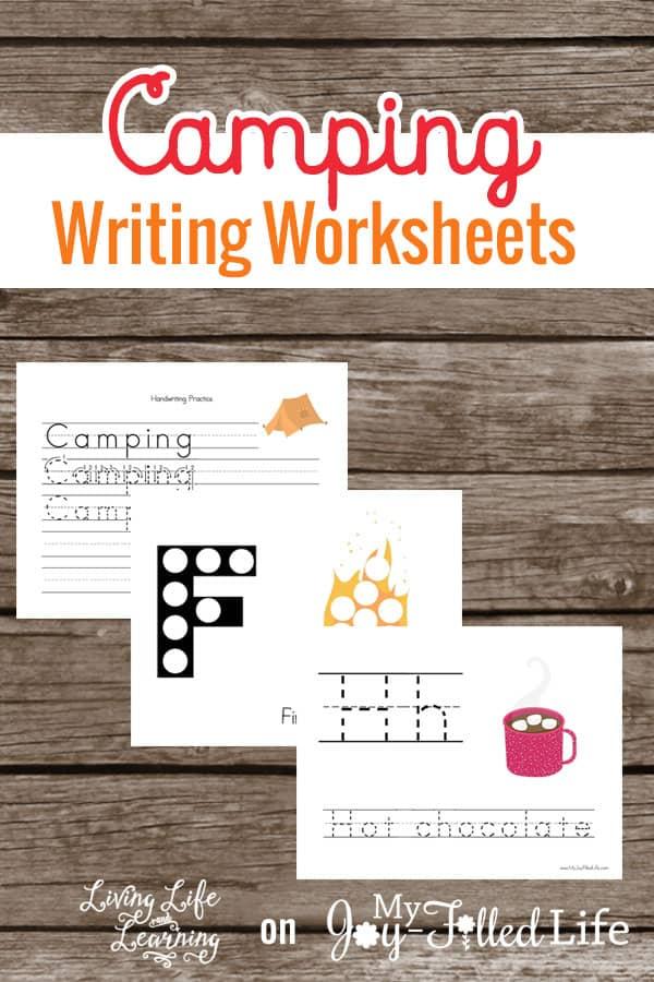 Camping Themed Writing Worksheets