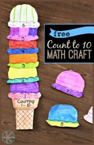 Counting to 10 Ice Cream Math Craft