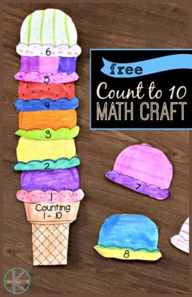 Counting to 10 Ice Cream Math Craft