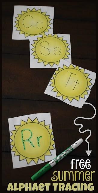 Traceable Summer Alphabet