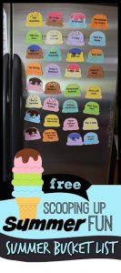 Ice Cream Scoop Summer Bucket List