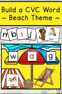 Beach Themed Build a CVC Word Pack
