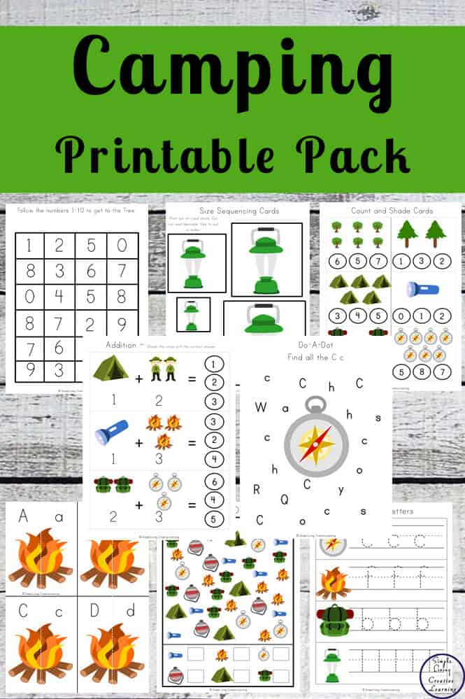 Camping-Themed Printable Pack