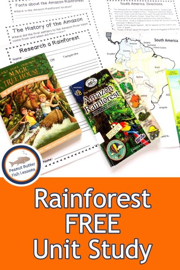 Free Rainforest Unit Study