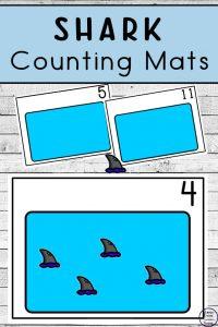 Free Shark Counting Mats