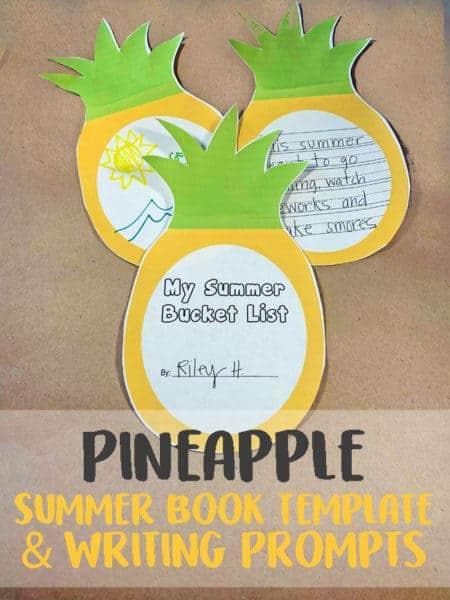 Pineapple Summer Writing Activity
