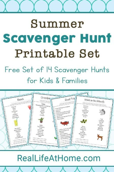 Summer Scavenger Hunts Printable Pack