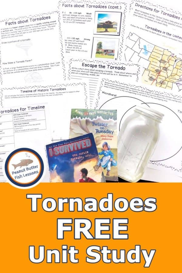 Free Tornadoes Unit Study