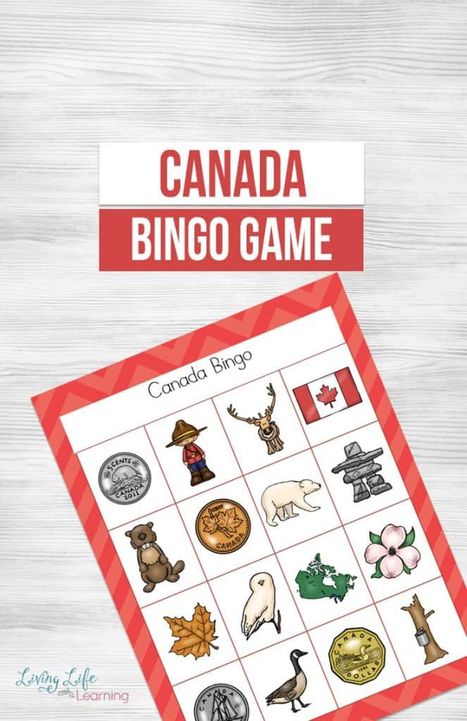 Printable Canada Bingo Game