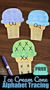 Ice Cream Alphabet Tracing