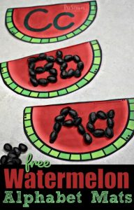 Watermelon Alphabet Mats