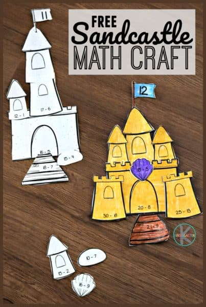 Subtraction Sandcastle Math Craft