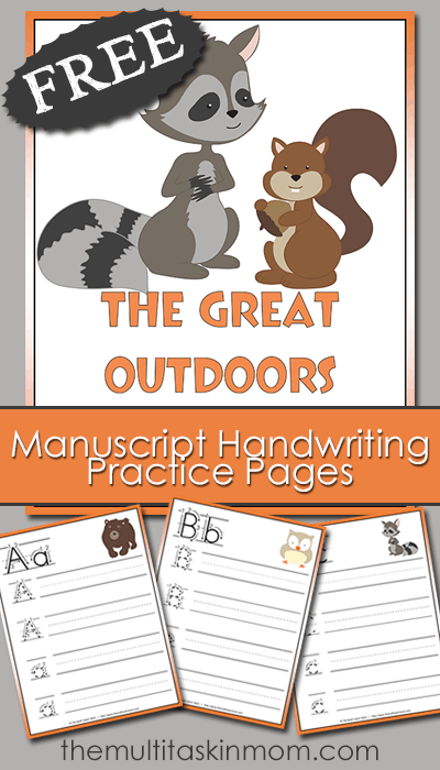 outdoors handwriting pack