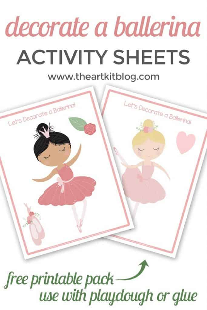 Decorate a Ballerina Free Printable Pack